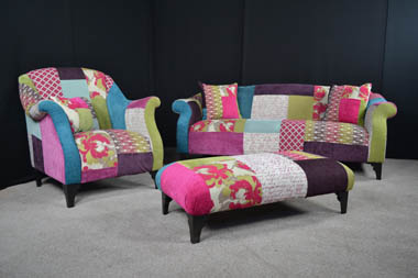 Patchwork Doll Sofa £599, call us now on 02477 982614