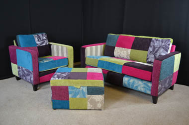 Peggy Patchwork Sofa £450, call us now on 02477 982614
